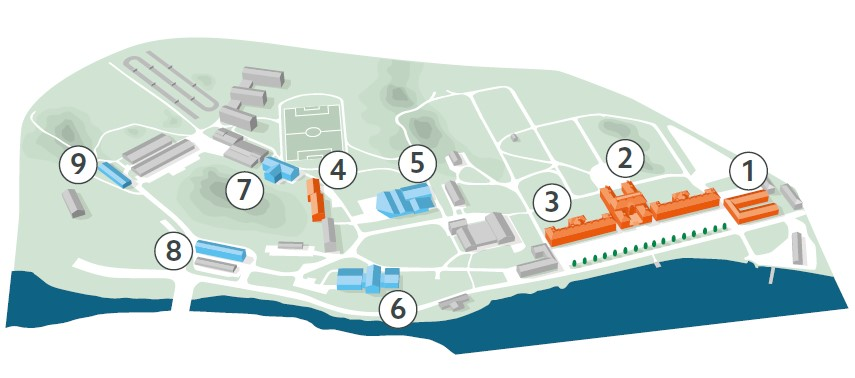 Illustration karta Karlsbergsområdet.